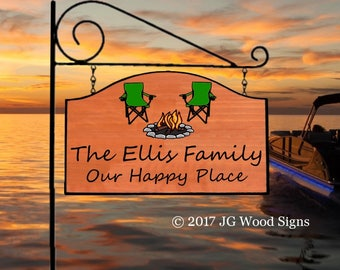 Wood Sign Camping Sign Etsy Campfire Camp Chairs - Custom Sign Carved Cedar Family Name Sign Great Christmas Gift JGWOODSIGNS Ellis 14