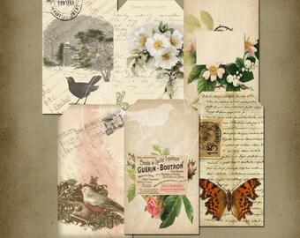 Vintage romantique Tags imprimable téléchargement
