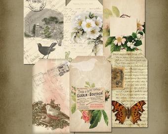 Romantic Vintage Tags Printable Instant Digital Download