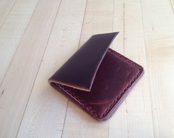 Handmade leather billfold wallet