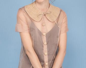 Silk organza shirt
