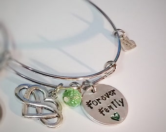 Birth Mom Gift - Gift for Adoption - Family Keepsake Gift - Adoption Gift - Birth Family Thank You Gift - Hand Stamped Jewelry