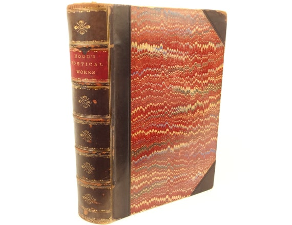 19th century Poetical Works of Thomas Hood, illustrated, with memoir, notes, etc