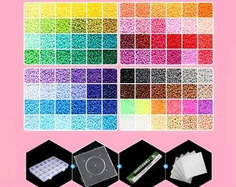 2.6mm Mini Beads Box Set - A-Series (96 Colors) Soft Mini Beads  - (Perler Beads/Hama Beads/Fuse Beads)