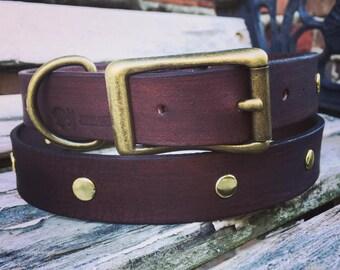 Leather dod collar
