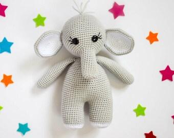 Amigurumi Patterns Elephant : Amigurumi elephant etsy