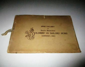 Rare 1908 Spies' Gallery of Photo Engravings Soldiers' and Sailors' Home Sandusky Ohio Picture Booklet Historic Military Buildings Cemetery