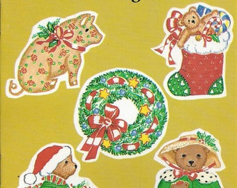 Vintage Elizabeth King Brownd Country Christmas Stickers Dover Publications Book, 1992