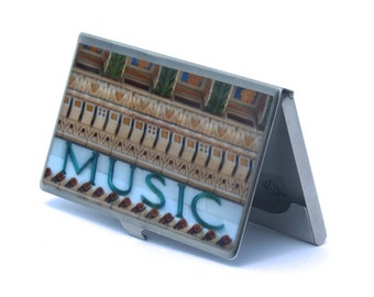 CARD CASE - Music Card Case - Brooklyn Academy of Music - Business Card Holder -Corporate Gifts