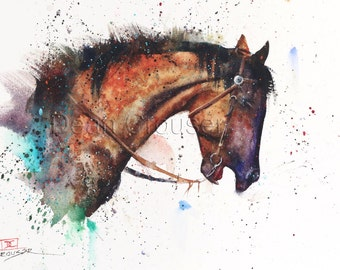 HORSE Watercolor Print by Dean Crouser