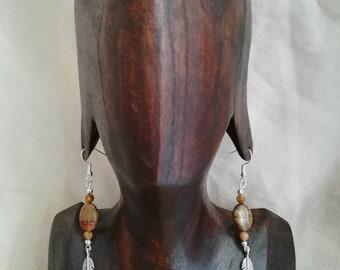 """Earrings """"Original"""" semi-precious stones, Ti Memento"""