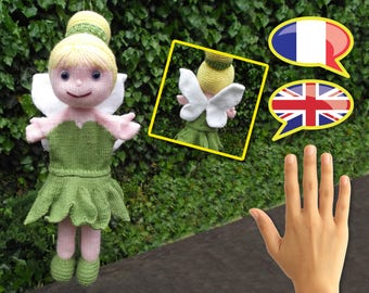 KNITTING tutorial/pattern: Tinkerbell puppet