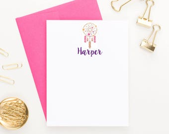 Boho stationery for girls thank you notes, Personalized Thank you cards for girls, Personalized Stationery for kids thank you cards, KS082
