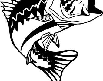 bass art etsy rh etsy com Country Clip Art Wedding Monogram Clip Art