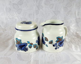 Royal Doulton, Festival Creamer and Sugar Bowl