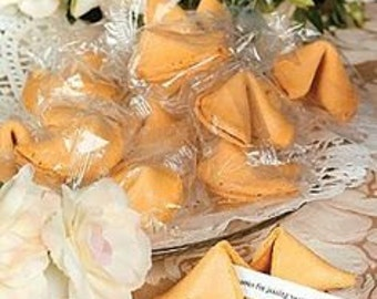250 Wedding Themed Fortune Cookies Individually wrapped (Vegan)
