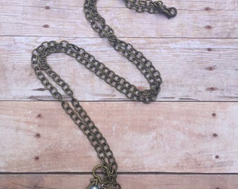 Bronze Lock and Key Charm Necklace