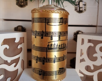 """Unique!!! Candle with wax decorations """"music"""""""