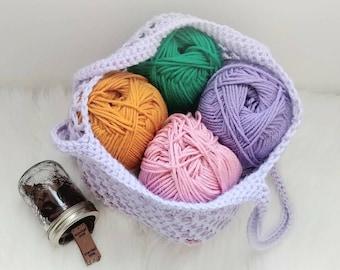 Crochet Market Bag, Reuseable, Grocery Bag, Tote, Acrylic Yarn