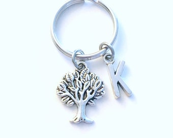 Gift for Environmentalist Keychain, Tree of life Key Chain, Forestry Officer Present, Men women him her Canadian Shop Seller Oak Leaf Nature