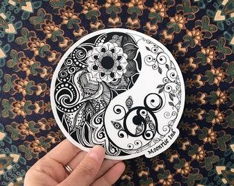 Original Art Sticker - Yin Yang - Vinyl Sticker