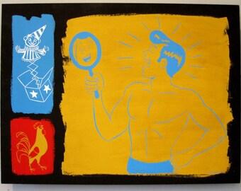 Painting - Pride ('Sin Alley' Series)