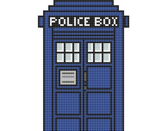 Home Sweet Home TARDIS Cross Stitch Pattern (PDF)