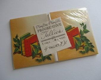 Vintage Tallies-Old Stock-Ephemera-Games-Playing Cards-Unused