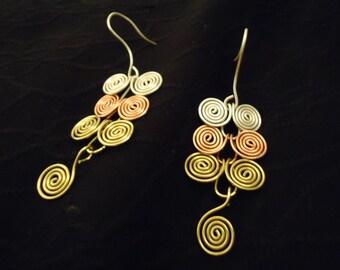 Egyptian coil earrings