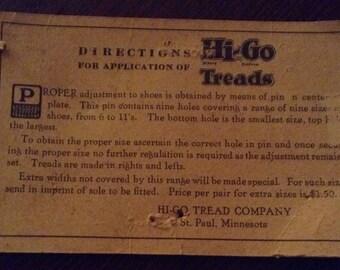 Hi-Go tread Pat.Apl'd.for