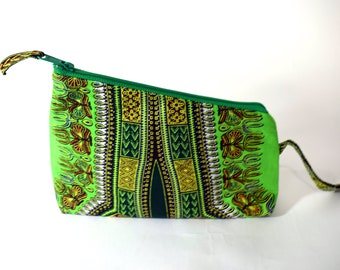 Green Dashiki Wristlet - Ready To Ship