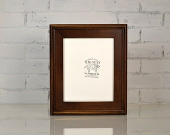 """8x10"""" Picture Frame in Double Cove Build Up Style in Finish Color of YOUR CHOICE - Rustic Wooden Frame - 8x10 Photo Frame"""