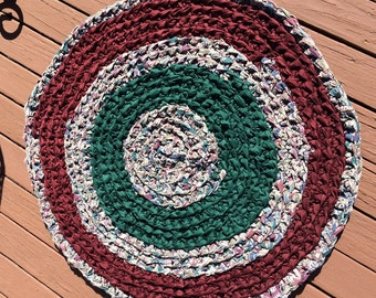 Maroon and Green Rug
