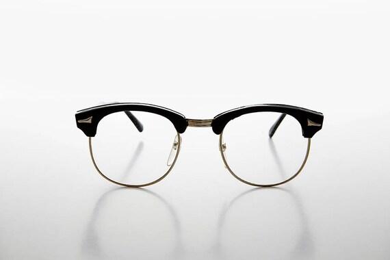 60s Retro Malcolm X Horn Rim Hipster Vintage Glasses NOS