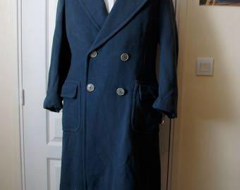Vintage 1940s blue grey man vintage trench coat