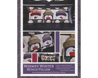 Quilt Pattern by Kimberbell:  Whimsy Winter Bench Pillow