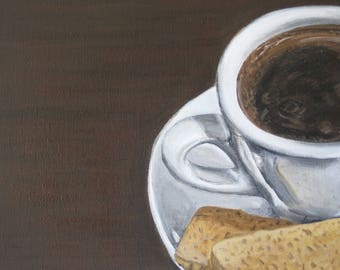 Cup of Joe and Biscuits- Acrylic on Canvas