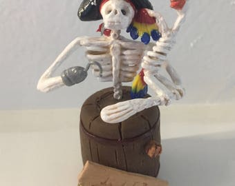 Miniature Pirate Day of the Dead statue