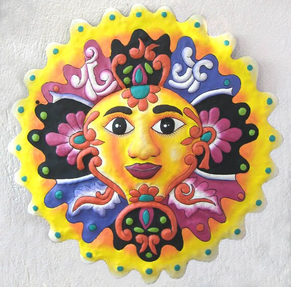 Painted Metal Sun Metal Garden Art 24 Sun Wall Art