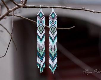 Earrings for celebration, Romantic earrings, elegant earrings, dangle earrings, beaded earrings, party earrings