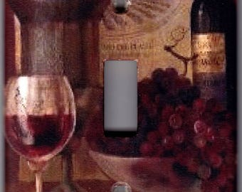 Wine Tasting / Grapes Switchplate Cover - Single Outlet, Single Toggle, Single Rocker