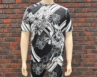 Floral Black & White 2 Piece