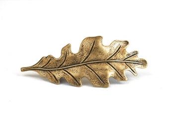 Bronze Oak Leaf Barrette