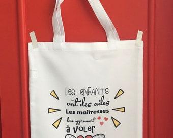 Tote bag personalized teacher tote bag