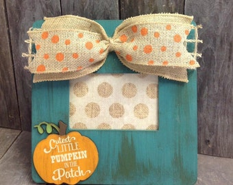 Cutest Little Pumpkin in the Patch 4x6 Picture frame