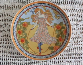 """Unicef Children of the World Plate #1  Heinrich Germany Villeroy & Boch 7.75""""  wall decoration .kitchen decoration , collectibles"""