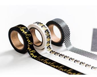 Love washi tape set