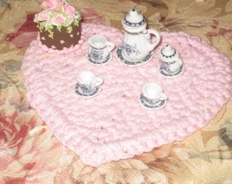 Dollhouse Porcelain Mini Tea Set