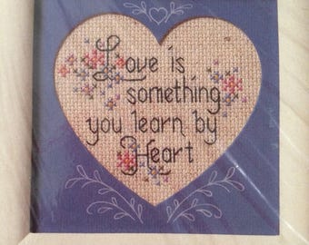 The Creative Circle Learn by Heart Cross Stitch Craft Kit 1643 NEW 1989
