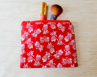 Pineapple Pouch/ Pencil Case/ Make Up Bag/ Gift for Her/ Gift/ Mothers Day Gift/ Gift for Mom/ Best Friend Gift/ Teacher Gift/ Coworker Gift